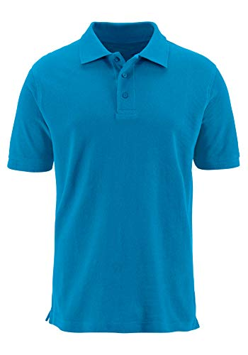 - Musen Men Short Sleeve Polo Shirt Solid Regular Fit Sport Polos for Clamping Golf Tennis Polo T-Shirts Blue Small