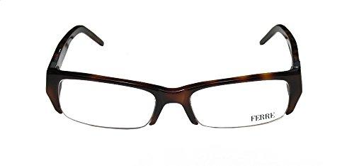 Gianfranco Ferre 29702 Womens/Ladies Prescription Ready Top-quality Materials Designer Half-rim Eyeglasses/Eyeglass Frame (51-17-135, Havana)