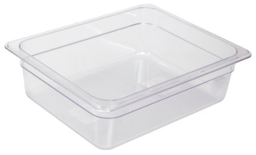 Crestware Commercial Grade, FP26, Polycarbonate Food Pan Half Size 6'', Set of 2