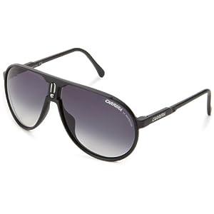 Carrera Champion/L/S Aviator Sunglasses,Matte Black Frame/Grey Gradient Lens,One Size