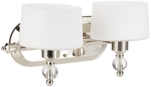Progress Lighting P2920-104WB Two-Light Bath with Bulb (Finish Polished Nickel 104wb)