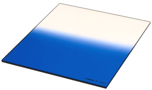 Cokin P667 B2 Fluo Graduated Filter in a Protective Case (Blue) by Cokin