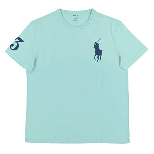 Polo Ralph Lauren Mens Crew Neck Big Pony T-Shirt (XL, Seafoam Green)