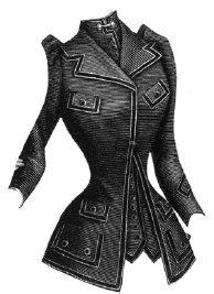 1891 Cut-Away Jacket with Vest Pattern (Cowboy Vest Pattern)