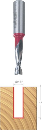 Freud 75-104 5/16-Inch Diameter 2-Flute Up Spiral Router Bit with 1/2-Inch Shank