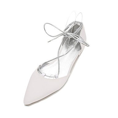 Summer Satin Champagne CN36 EU36 Shoes Heelivory Comfort UK4 amp;Amp; Ruby Blue Evening Women'S RTRY Party Bowknot Wedding Spring US6 Rhinestone Flat Wedding Dress gnqwYRIa