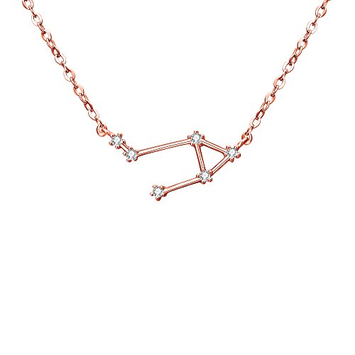 - BriLove Rose-Gold-Toned 925 Sterling Silver Necklace -