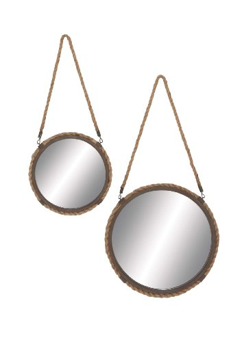 Solar Styled Exquisite Metal Frame Mirror by Benzara