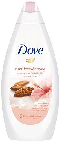 Dove Reichhaltiges Cremebad Pure Verwöhnung Mandelmilch & Hibiskusduft, 3er Pack (3 x 750 ml)