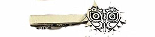 The Legend of Zelda Majora's Mask Silvertone Metal TIE - Clip Zelda Tie