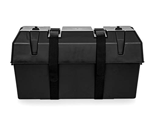 Camco Heavy Duty Double Battery Box with Straps and Hardware - Group GC2 | Safely Stores RV, Automotive, and Marine Batteries |Durable Anti-Corrosion Material | Measures 21.5