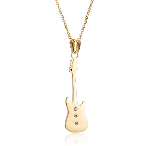 huan-xun-musical-instrument-guitar-pendant-charm-fashion-necklaces-gold