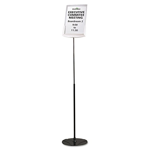 Durable 558957 Sherpa Infobase Sign Stand, Acrylic/Metal, 40''-60'' High, Gray by Durable