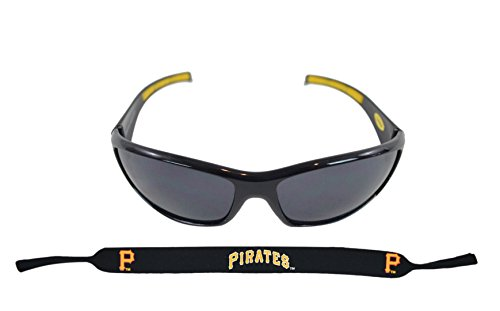 (Siskiyou Sports Inc Official Major League Baseball Fan Shop Authentic Sunglasses and Neoprene MLB Team Strap. Enjoy tailgating and the Game in the Sun with cool specs (Pittsburgh Pirates))