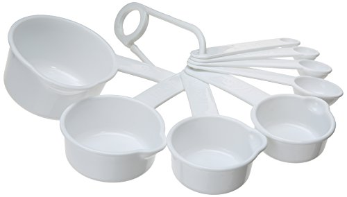 Chef Craft  8-Piece Measuring Set, White ()