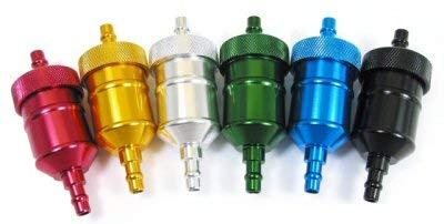 """ScootsUSA 1/4"""" Aluminum Fuel Filter, All Makes"""