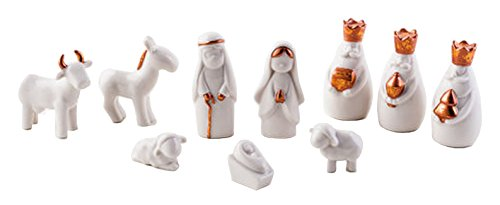 180 degrees 10 piece copper glazed porcelain christmas