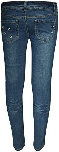 dollhouse Girl's Denim Skinny Jeans with Fashion Designs 2