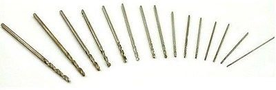 Micro Drill Bits - 8 Pieces HSS Micro Twist Drill Bits Mini Set 0.3 mm -1.0 mm For Dremel PCB; Model Making Jewellery Craft Hobby