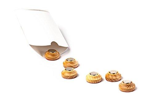 Wooden Magnetic Key Hooks, Holder for Keys, Kitchen, Workshop, etc. - Mounted Without Drilling (6Pcs/Set )