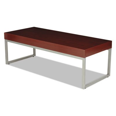 Occasional Coffee Table, 47 1/4w x 20d x 16h, Mahogany/Silver, Sold as 1 Each by Generic