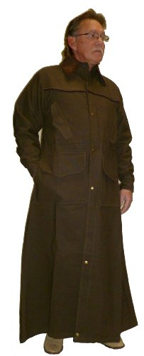 Mens Duster Jackets (Brassada Duster Ranger Saddle Coat Satin Lined)