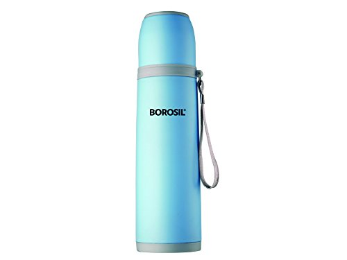 Borosil Hydra Flair Stainless Steel Flask, 500ml, Blue (ISFGBU0500B)