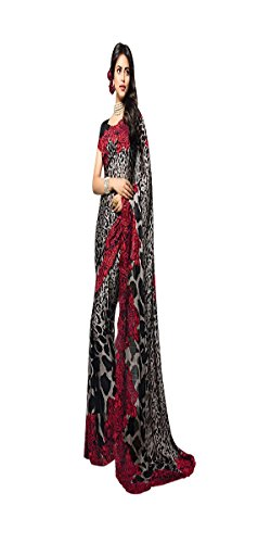 Bollywood Printed Saree Sari Blouse Muslim Women Wedding Ceremony Party Wear Diwali Festive 520 by ETHNIC EMPORIUM