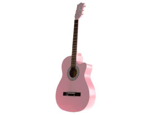 Pink Cutaway Acoustic Guitar (Fever FV-030C-PK 3/4 38-Inch Acoustic Cutaway Guitar, Pink)