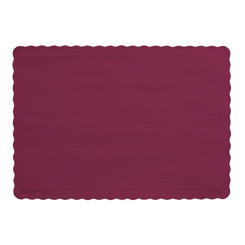 Creative Converting 863122B Party Supplies Paper Placemats, One Size, (Burgundy Place Spoon)