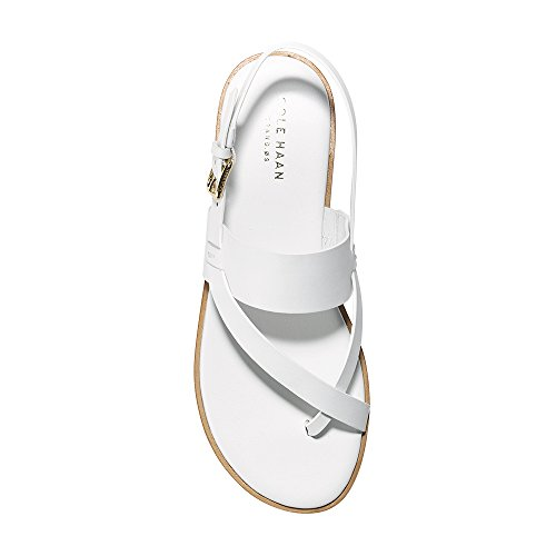 Cole Haan Vrouwen Anica Thong Platte Sandaal Witte