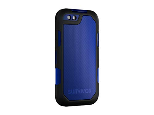 Griffin Survivor Extreme iPhone 6/6s Rugged Case - Impact Resistant Case with Holster, Black/Blue