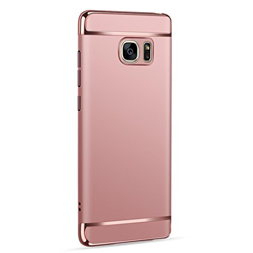 Price comparison product image MNtech New Thin Electroplate Hard Protective Case Cover for Samsung Galaxy Note 5 (Rose Gold)