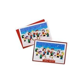 Amazon.com : Hallmark Peanuts Gang Boxed Christmas Cards 40 Count ...