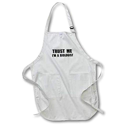 apr/_195595/_4 Fun Biology Humor Funny Science Job Work Gift Black with Pockets 22 by 30-Inch Full Length Apron 3dRose Trust Me Im a Biologist