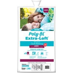 Bulk Buy: Fairfield Poly-Fil (4-Pack) Extra Loft Bonded Polyester Batting Queen Size 90in. x 108in. FOB: MI x 90B by Fairfield Poly-Fil