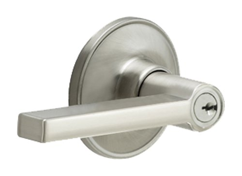 Dexter by Schlage J54SOL619 Solstice Keyed Entry Lever, Satin Nickel
