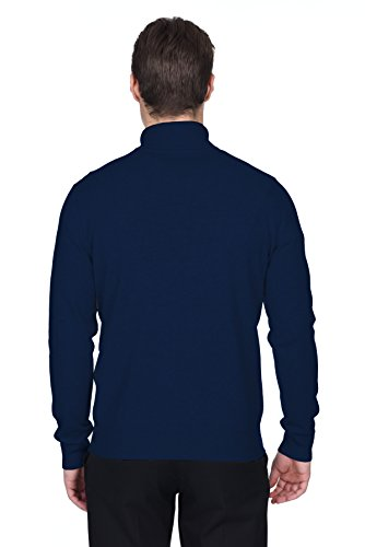 Marina Militare Uomo Pullover Manica Fusio Dolcevita State A Cashmere Lana Lunga lFK1Jc