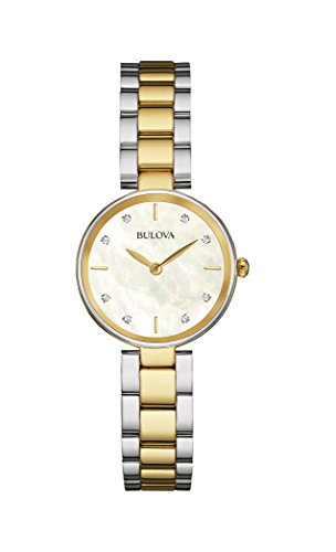 Bulova womens 98P146 12mm Two-Tone Stainless Steel Watch with Bracelet