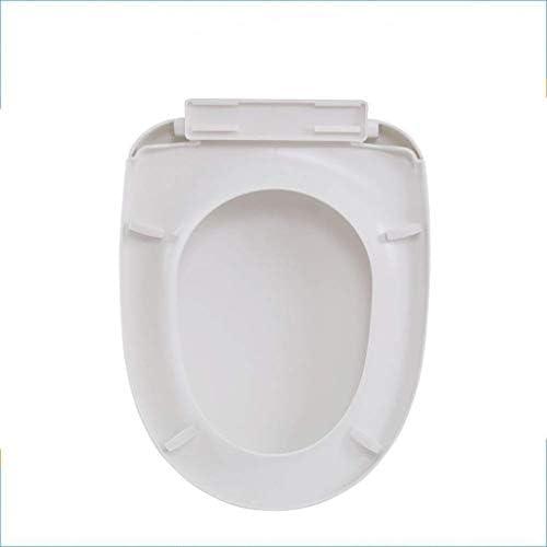 Djyyh トップをインストールするには便座U形状ユニバーサル便座アジャスタブルヒンジクイックリリースドロップミュート簡単にトイレのふた、白をマウント