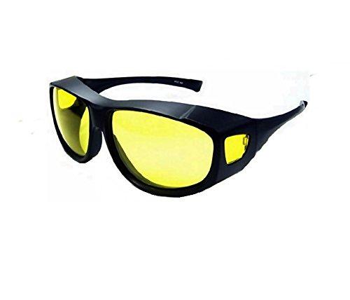 Night Driving Fit Over Sunglasses for People Who Wear Prescription Glasses UV Protection by - Prescription Glasses Riding