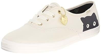 Keds Women's Taylor Swift Sneaky Cat Fashion Sneaker, Cream, 5 M US