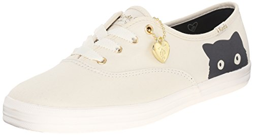 Keds Women's Taylor Swift Sneaky Cat Fashion Sneaker, Cream, 9 M US