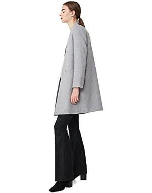 Mango Women's Unstructured Wool-Blend Coat