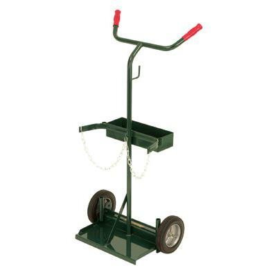 Harper Trucks 141-70 46-Inch High by 22-Inch Wide Deluxe Welding Cylinder Hand Truck with 8-Inch Semi-Pneumatic Wheels