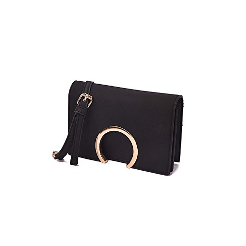 WZW de color dividida cuadrada redonda paquete cadena bolsa de hombro bolsa de mensajero bolsa pequeña retro . gray black