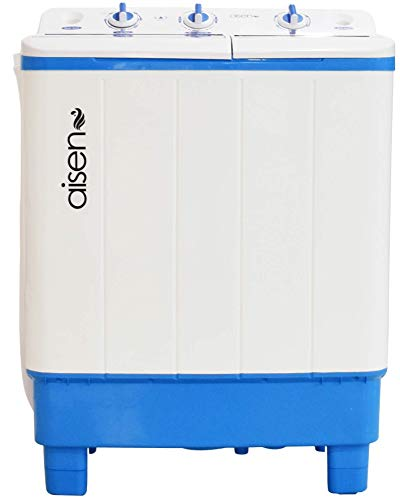 Aisen 7.0 Kg Semi-Automatic Top Loading Washing Machine with Toughened Glass (A70SWT610/630) – Blue, Wave Pulsator…