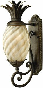 Hinkley 2120PZ, Plantation Outdoor Wall Sconce Lighting, 75 Total Watts, Bronze