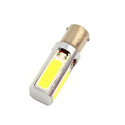 eDealMax Blanca BA15S P21W 1156 Bombilla 1073 del coche LED COB Freno señal de vuelta de