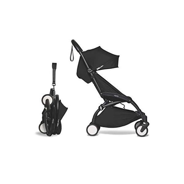 Babyzen YOYO2 Stroller – Black Frame with Black Seat Cushion & Canopy